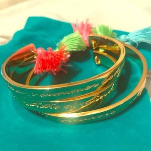 Lilly Pulitzer cuff bracelets with tassels